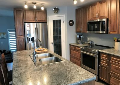Kitchen – Walnut – Clear Stain