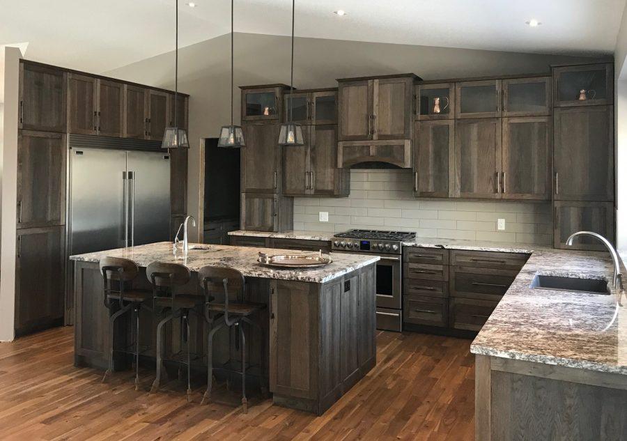 Kitchen Hickory Grey Stain Rodina Cabinets