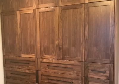 Closet – Walnut- Clear Stain